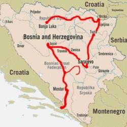 mapa z Jablanicy do neum