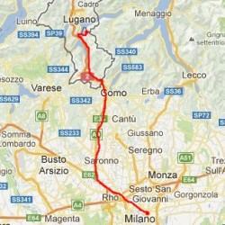mapka Milan-Campione