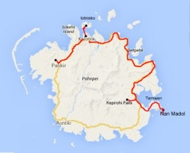 mapka Pohnpei