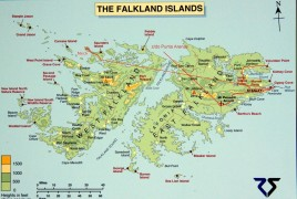Falklandy mapka trasy