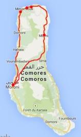mapka trasy na Wielkim Komorze