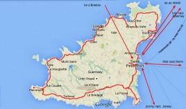 mapka Guernsey