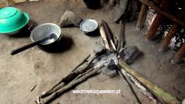 Pigmeje, chata kuchnia