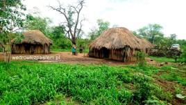 angola, wioska, buszmeni