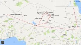 Czad, mapka trasy zwiedzania