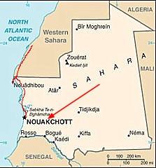 mapka Mauretanii