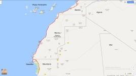 mapka trasy Sahara Zachodnia