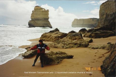 Nad Morzem Tasmanskim przy 12 Apostolach (ostance skalne w morzu),