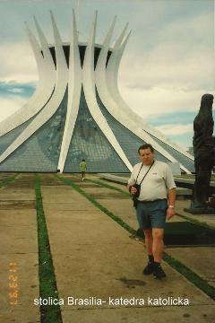 stolica Brasilia- katedra katolicka,Ameryka Płd.,Brasilia,Manaos,Salwador,Rio de Janeiro,Amazonia,pirania,karnawał brazylijski,wodospady Iquasu,