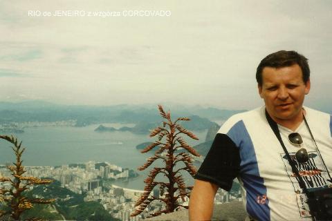 RIO de JENEIRO z wzgorza CORCOVADO,Ameryka Płd.,Brasilia,Manaos,Salwador,Rio de Janeiro,Amazonia,pirania,karnawał brazylijski,wodospady Iquasu,