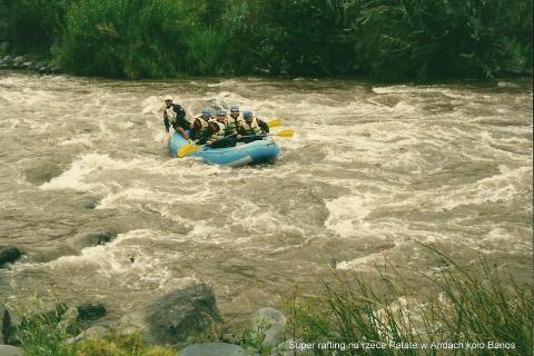 Super rafting na rzece Patate w Andach kolo Banos,Ameryka Pld.,rownik,Qiuto,rafting,podroze,podroznik,