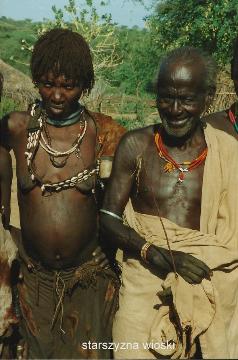 starszyzna wioski,Afryka,Addis Abeba,plemiona , Omo,Hamar,Hamer,Mursi.Bana