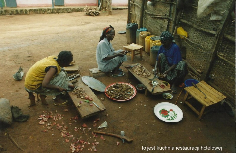 to jest kuchnia restauracji hotelowej,Afryka,Addis Abeba,plemiona , Omo,Hamar,Hamer,Mursi.Bana
