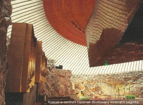 Kosciol w centrum Helsinek zbudowany wewnątrz pagorka,kraj skandynawski,Europa,Helsinki,