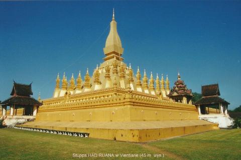 Stuppa HAD RUANA w Vientiane (45 m. wys.),Azja,indochiny,daleki wschod, polscy globtroterzy,lodzianin,