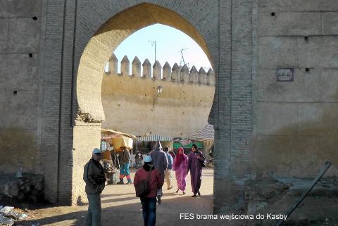 FES brama wejściowa do Kasby,Gibraltar,Sahara,Góry Atlas,Atlas Niski i Wysoki,kraj arabski,królestwo Maroka,medyny Maroka,
