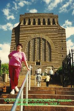 VOORTREKKER MONUMENT- muzeum wielkiej wedrowki w 1838 r.,afryka,johanesburg,cape town,durban,strusie jajka, polscy globtroterzy,