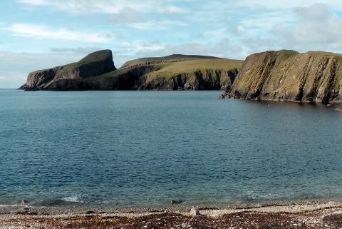Fair Isle, Szetlandy, KLify wyspy