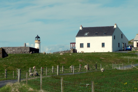 Fair Isle, Szetlandy, południowa latarnia morska,