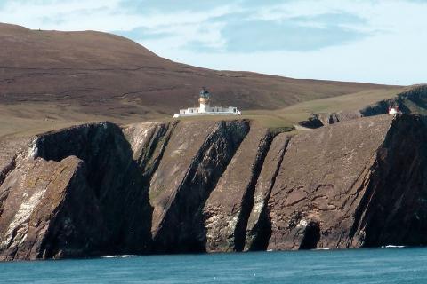 Fair Isle, Szetlandy, północna latarnia morska