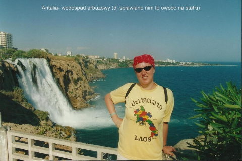 Antalia- wodospad arbuzowy (d. splawiano nim te owoce na statki),Pamukale, Antalia, tanczacy mnisi, kapadocja, spotkania, prelekcje,film,podroznicze,