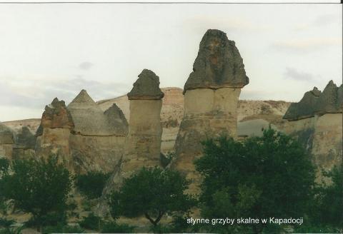 slynne grzyby skalne w Kapadocji,Pamukale, Antalia, tanczacy mnisi, kapadocja, spotkania, prelekcje,film,podroznicze,