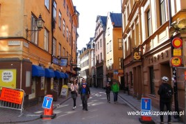 10- Sztokholm, uliczki starego miasta