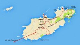 mapka Alderney