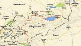 mapka trasy w Kirgistanie