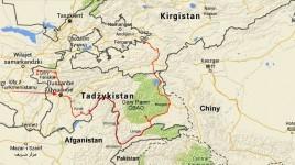 mapka trasy w Tadżykistanie do Osz w Kirgistanie