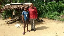 Kamerun, Pigmeje, fotka-z-pigmejemthomasem
