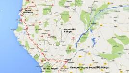 Gabon mapka trasy