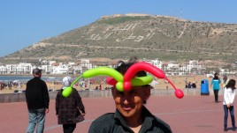 Agadir , promenada nadmorska i twierdza