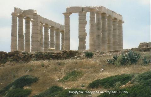 Swia…tynia Posejdona na przyladku Sunio,Europa,Ateny,mitologia grecka,Peloponez,kanal koryncki,wiszace meteory,the Saloniki,