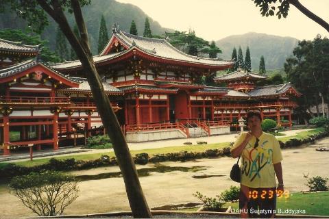 OAHU Swiatynia Buddyjska,Pacyfik,Oahu,Hawaje, Centrum Kultury Polinezyjskiej.wulkan,lawa,wybuch,Kilauea,czarna plaza,