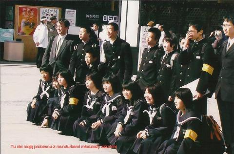 Tu nie maja… problemu z mundurkami mlodziezy szkolnej,wyspy Japonskie,Tokio,Kioto, Expo,palac cesarski,podroze,lodzianin,