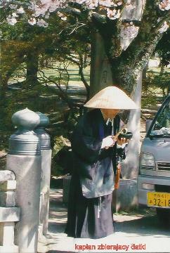 kaplan zbierajacy datki,wyspy Japonskie,Tokio,Kioto, Expo,palac cesarski,podroze,lodzianin,