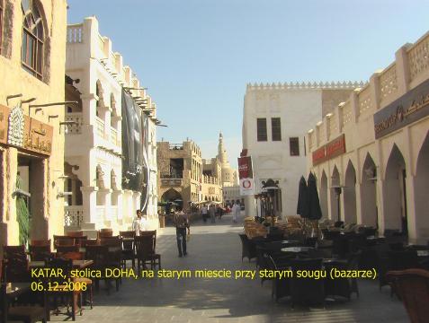 kraj arabski,Doha,sklep z sokolami,supermarket z kanałami weneckimi i gondolami,polski podróżnik,