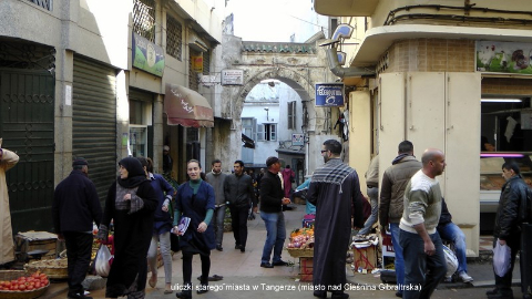 uliczki starego miasta, w Tangerze .(miasto nad Cieśnina Gibraltrska),