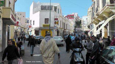 Rabat ulice mediny,Gibraltar,Sahara,Góry Atlas,Atlas Niski i Wysoki,kraj arabski,królestwo Maroka,medyny Maroka,