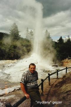 'mydlany' gejzer,Pacyfik, wyspa,auckland,Rotorua, park wulkanow,podroznik polski,