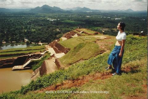 widok z SIGERIJA ruin palacu krolewskiego,ocean indyjski,herbaty,plantacje, Kolombo, lodzki podroznik,Pawel Krzyk,