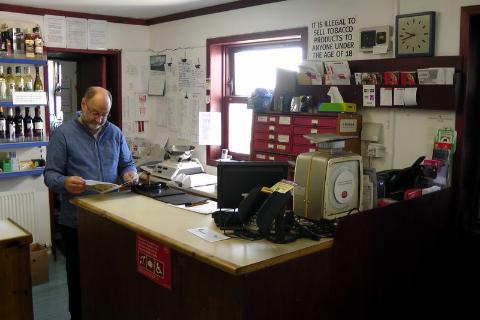 Fair Isle, Szetlandy, sklepik spożywczy i poczta,
