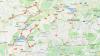 mapka trasy w Szwajcarii czI- do Fryburga- Berna