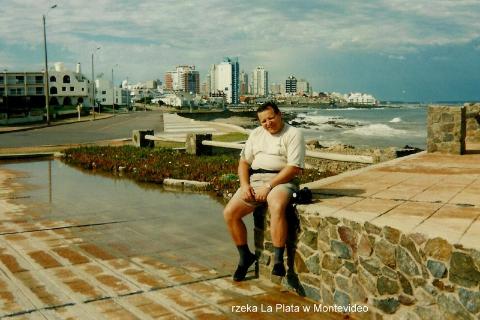 rzeka La Plata, w Montevideo,Ameryka Pld.,Montevideo,la plata,punta del este,podroznicy polscy,pawel krzyk,film,